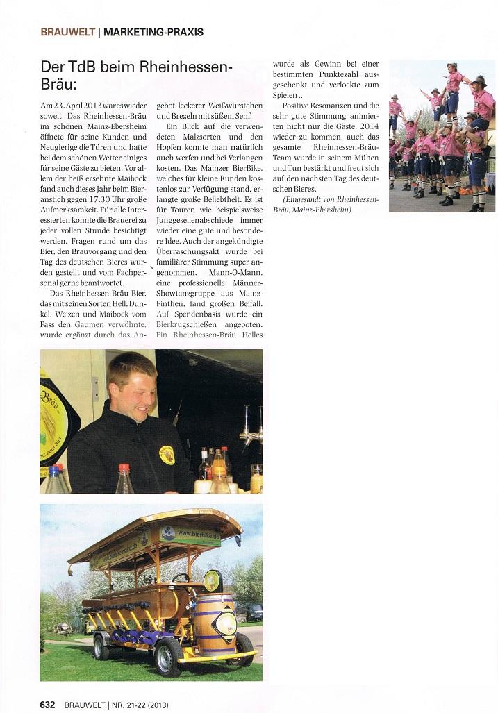 TdB - Brauwelt - Farbe - Keine PDF- kleiner NUR RHB-Artikel